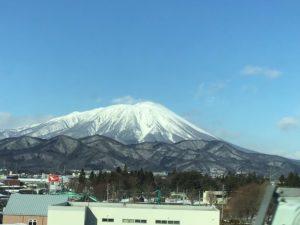 岩手山,1月,今日は雨