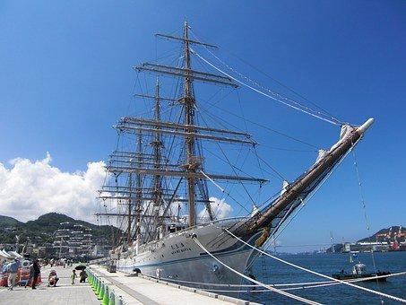 帆船,長崎港,